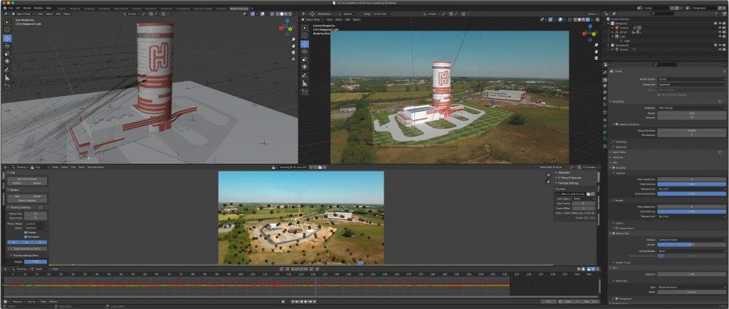 Capture d'écran Blender